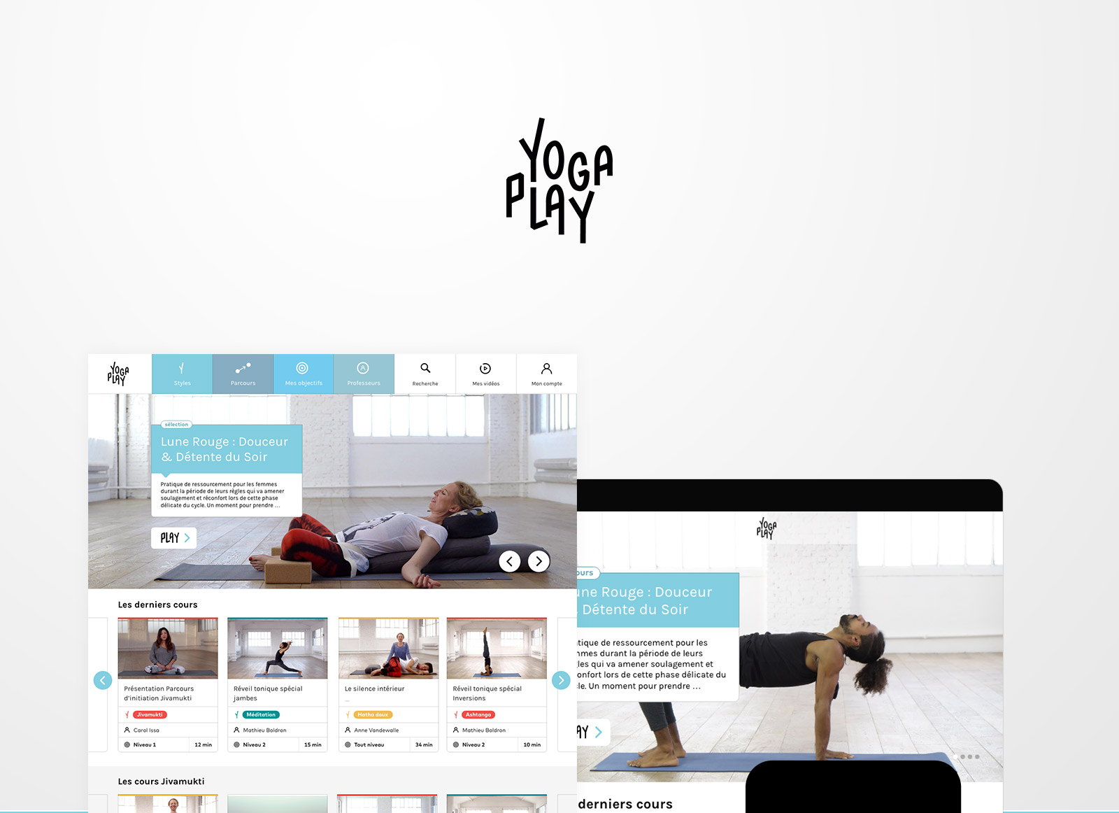 yogaplay_all // Fabien Stimulak, UX UI Designer, DA digital, Paris, France
