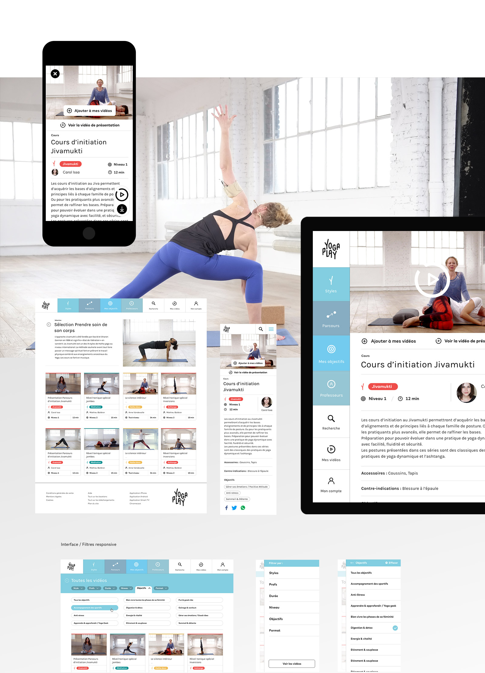 yogaplay_cours // Fabien Stimulak, UX UI Designer, DA digital, Paris, France