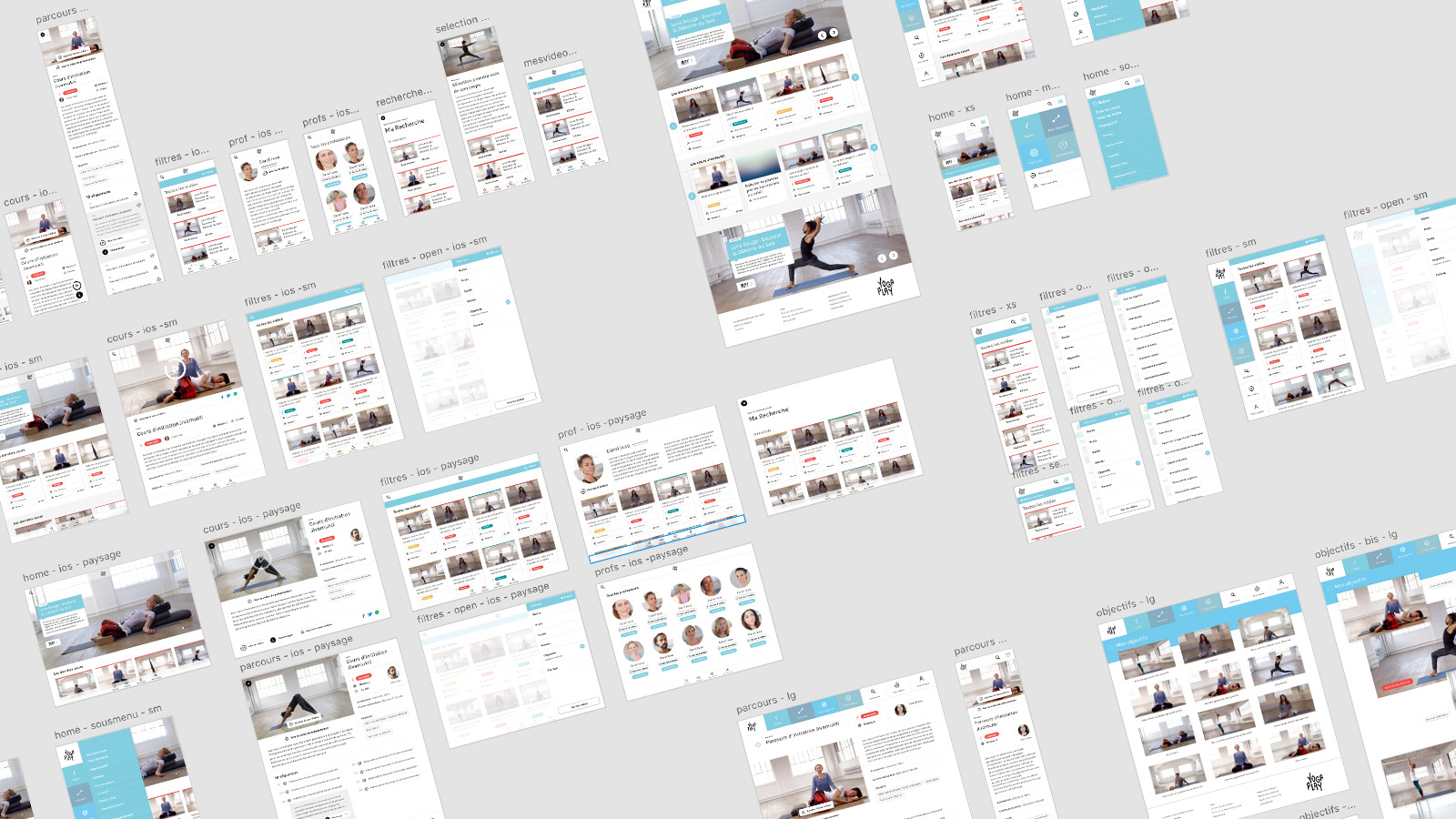 yogaplay_wireframes // Fabien Stimulak, UX UI Designer, DA digital, Paris, France